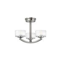 Plafonnier Meridian 3x60W - Argent Boutica-Design