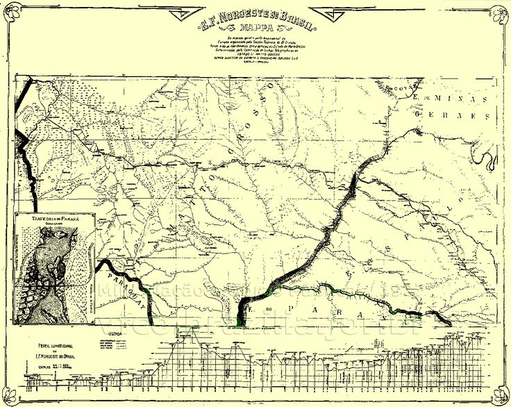Mapa geral dos trilhos da Estrada de Ferro Noroeste do Brasil - NoB - em 1927, com links para os mapas parciais da ferrovia