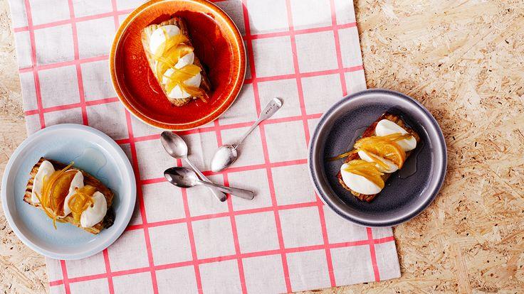 Orange marmalade tartlets
