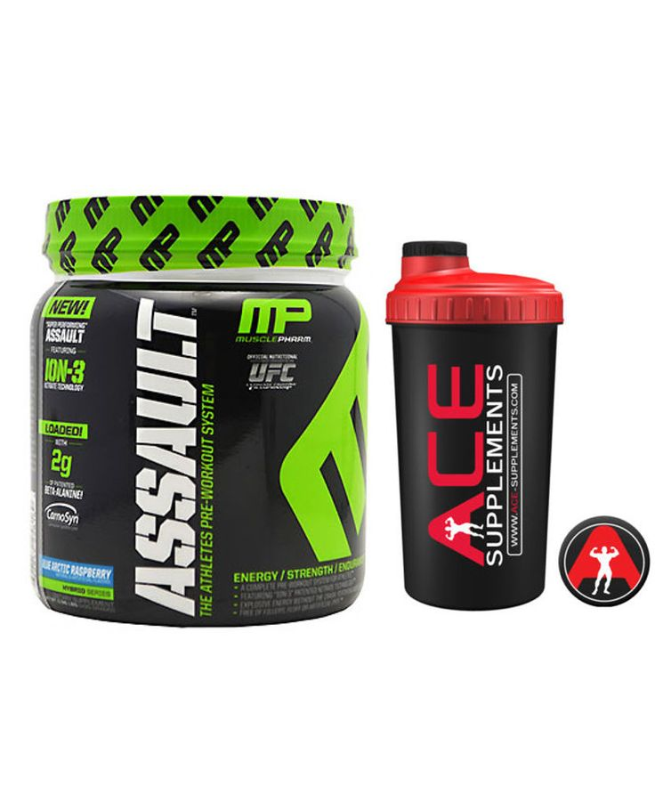 Musclepharm Assault Pre-Workout New Formula 435g + Free Shaker