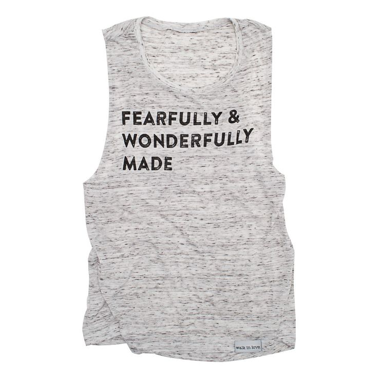 Fearfully and Wonderfully Made White Fleck Women's Muscle Tank