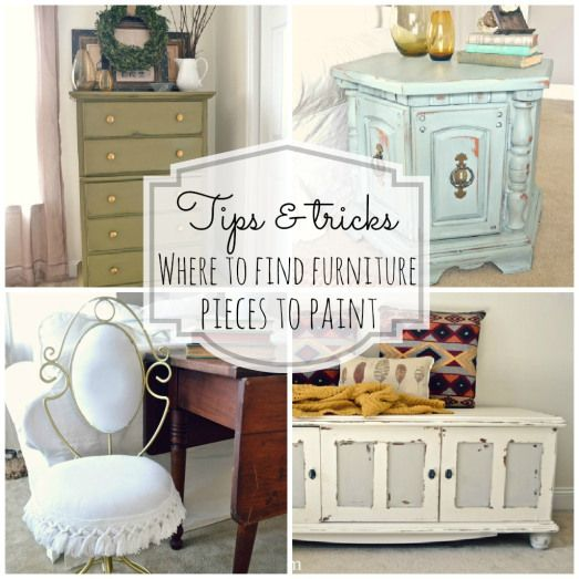 Making Furniture #Shabby is her Specialty !! So She post 7 places to find furniture to re-do {For free to cheap!}- lots of tips and tricks on finding furniture ! To paint and makeover the way you want it !  And this blog also has other great tips & tutorials on the simple ways to re-do furniture!