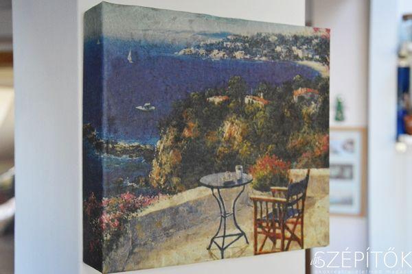 Kreatív újrahasznosítás: peremes dobozfedélből falikép. Tíz perc alatt elkészíthető