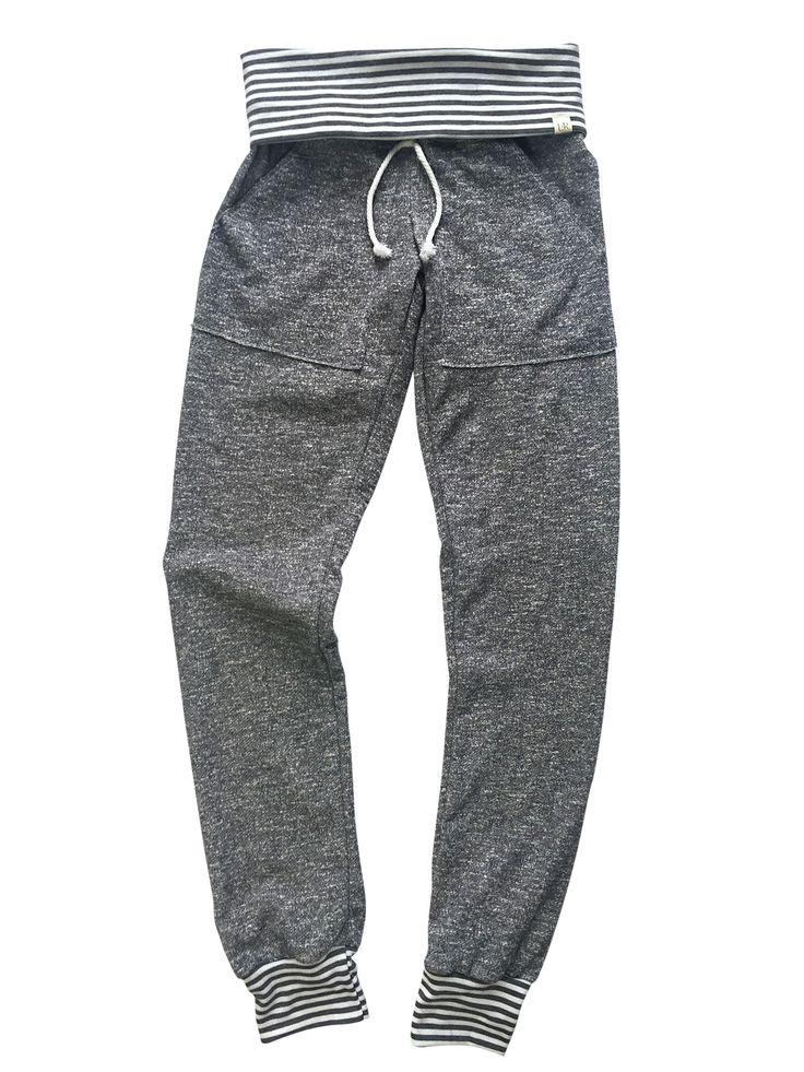 Lulu + Roo | Adult Unisex Dark Grey and Grey Stripes Skinny Sweats