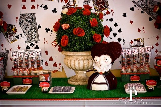Alice in wonderland party. i love the backdrop