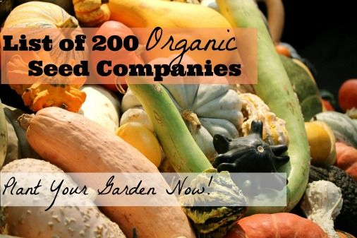 List of 200 Organic Seed Catalogues with Links - Incredible Neat and HELPFUL!!