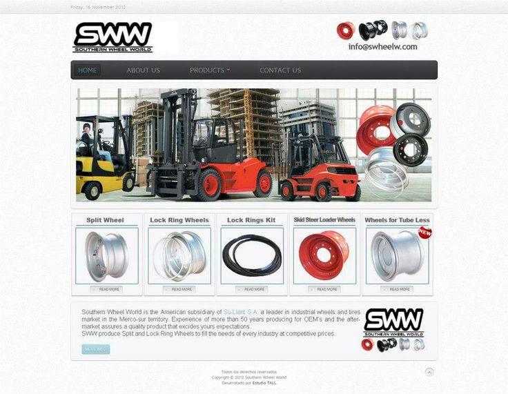 Swheelw - Southern wheel world. Llantas para montacargas. Desarrollo web para Estudio Tall.