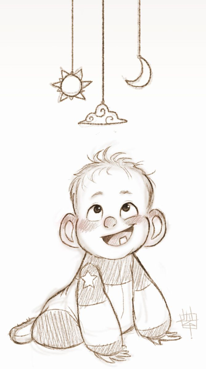 Today's warm up is a little baby!! Hope you like him! I think he's gonna be an astronaut someday...