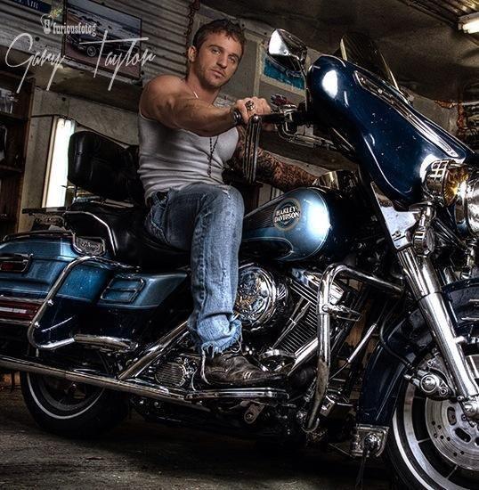 sexy naked biker guy