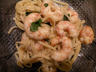 Argentine Red Shrimp with Garlic Butter Linguine