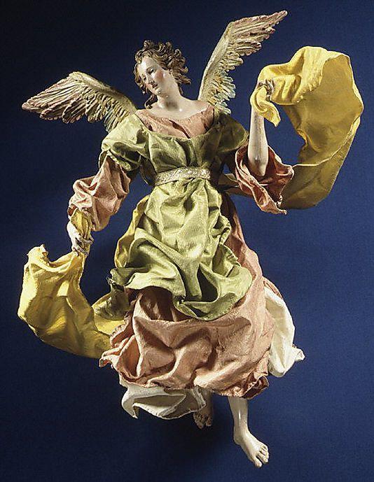 Neapolitan Baroque Angel unattibuted,2nd half 18th c. 13 1/8''h. MMA|NYC Annual Christmas Tree