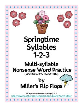 Multi-syllable Nonsense Word Game for Advanced Phonics Learners. This activity will help students practice reading multi-syllable nonsense words which are required in mastering phonics. Words contain blends, digraphs, vowel combinations, long vowels, short vowels, and r-controlled vowels. All words contain one, two or three syllables. Hope you enjoy this new resource FREEBIE with your students. Mine LOVE it! Please be sure to check out my other classroom activities.