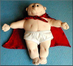 """Patterns and instructions for cape and underpants for your doll to make """"CAPTAIN UNDERPANTS!"""""""