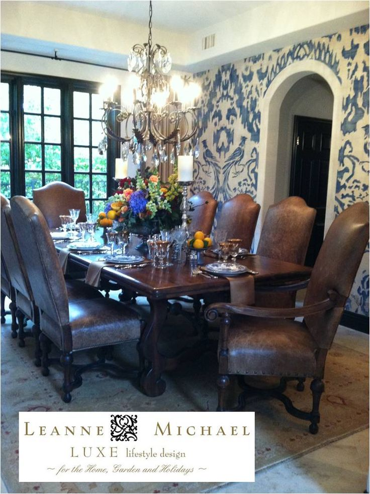 Vicki Gunvalson's AMAZING hand painted Dining Room | Designs By Katy