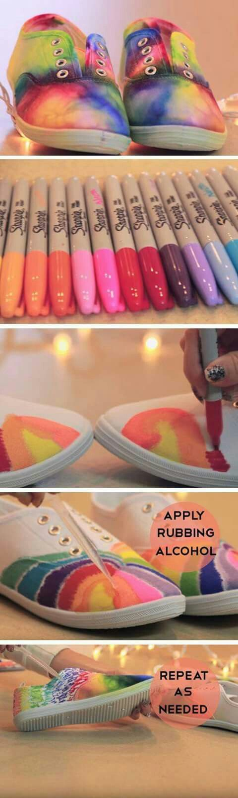 Tie-dyed sneakers