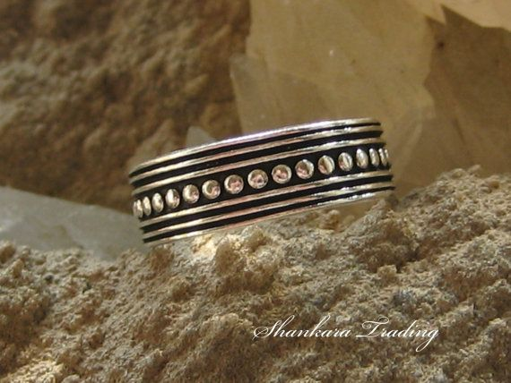 Sterling Silver Toe Ring, Tribal Toe Ring, Body Jewellery, Ethnic Toe Ring, Bohemian Jewelry, Adjustable Ring, Tribal Belly Dance Jewelry