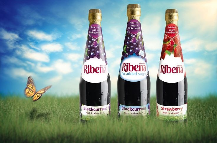 GLAXOSMITHKLINE RANGE DESIGN FOR ALL-THE-BERRYNESS BACKGROUND Ribena is a much loved English traditional brand of fruit-based uncarbonated and carbonated soft drink and fruit drink concentrate. Introduced in 1938 the original and most common variety contains real blackcurrant juice. The name derives