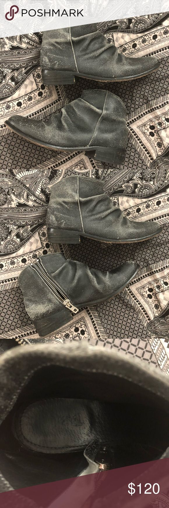 """DIESEL Boot / Booties Excellent used condition. The wear on the leather is supposed to be that way. Heel is 1"""". Size 39, but I am 7.5 and wear them just fine (there is plenty of room in there but with socks and because of the style there is no slipping/rubbing). Diesel Shoes Ankle Boots & Booties"""