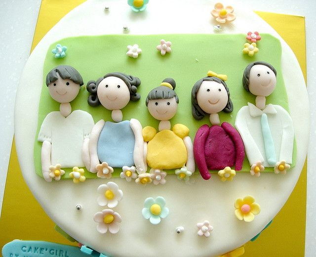 Birthday Cake with Family picture
