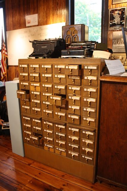 Nostalgic card catalog found at the Oak Park River Forest Museum in Oak Park, Illinois