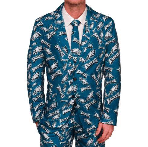 Philadelphia Eagles Suit - Men's Repeat Print Business Suit