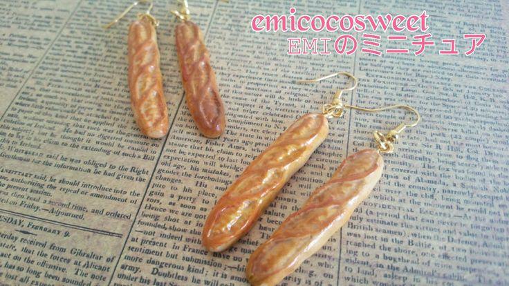 Handmade Miniature,Bread Earrings,Kitsch,Cute Earring,Fun Earrings,Food jewelry in Jewellery & Watches, Fashion Jewellery, Earrings | eBay