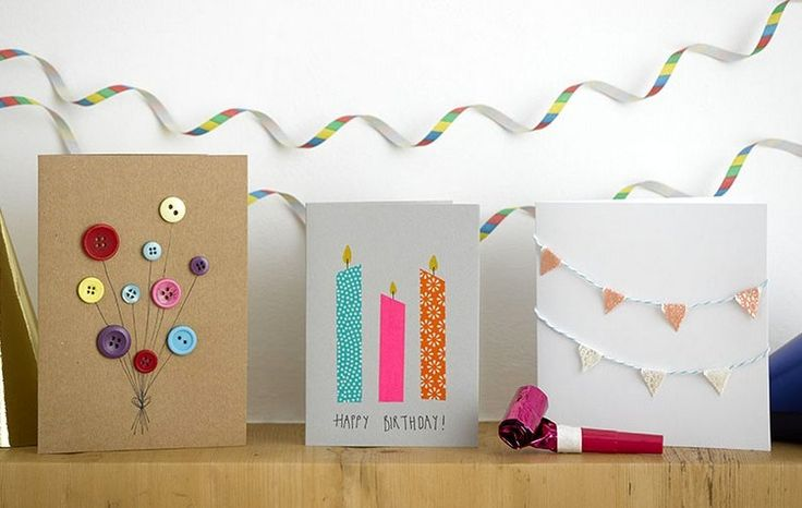 Geburtstagskarten basteln einfach-ideen-coole-diy-grußkarten