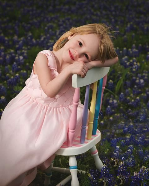 child portrait, bluebonnet portrait