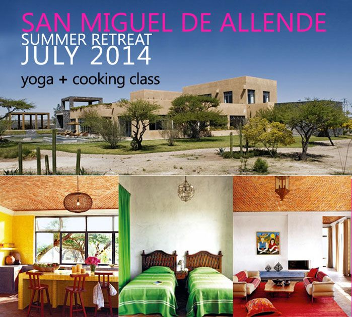 yoga retreat in san miguel, mexico. Wonderfull places and people. Spectacular colors and experience.