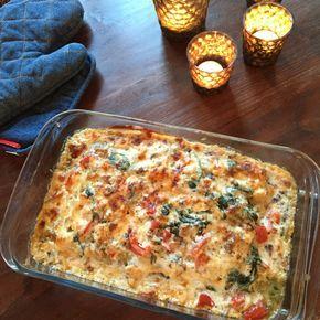 Samen Bourgondisch: Cannelloni gevuld spinazie, kip en gorgonzola saus
