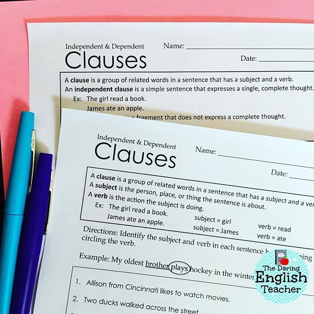 17 Best ideas about Dependent Clause on Pinterest | Dependent and ...