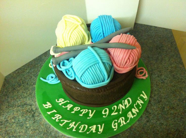 Happy Birthday Knitting Cake : Knitting themed cake birthday cakes by fandabydozy