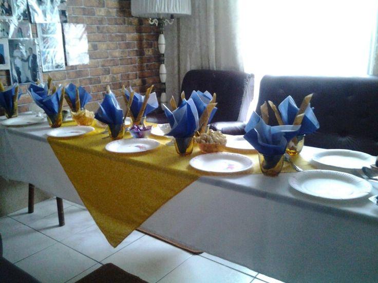 Minion table decor