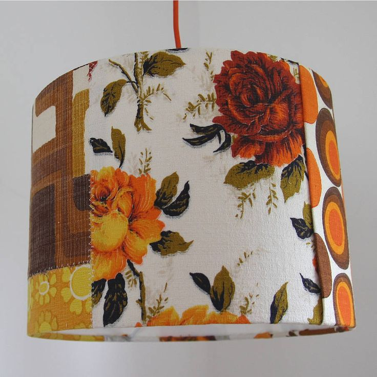 'Folksy Girl' Patchwork Lampshade