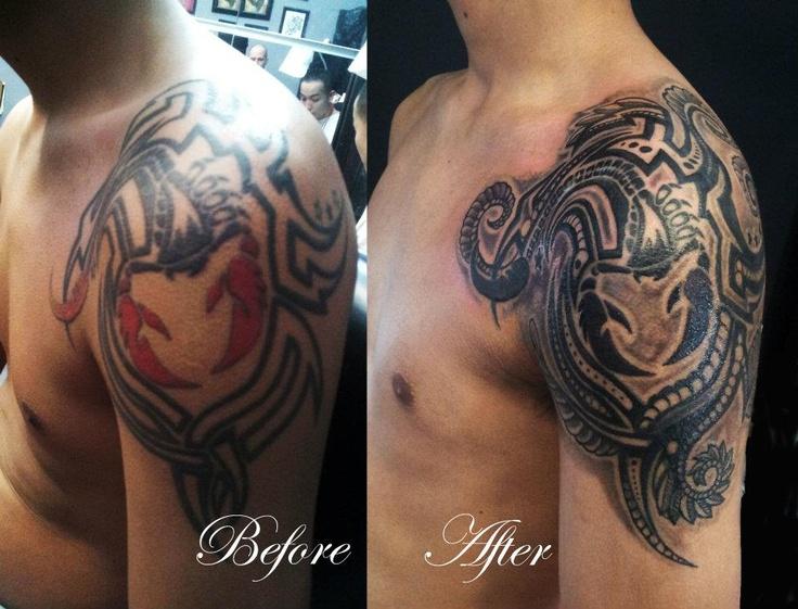Chronic ink tattoos toronto tattoo scorpion cover up