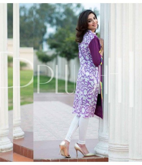 Plush Embroidered Kurti Collection 2015 Vol-1 by Riaz Arts EK-04