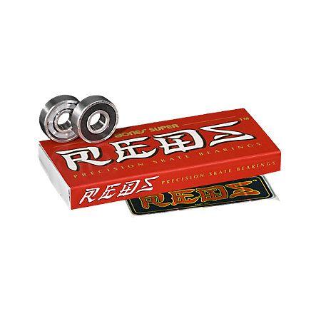 Bones Super Red Skateboard Bearings. BEST. BEARINGS. EVER.