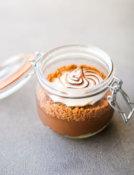 Smoked S'mores in a Jar recipe. Whoa!