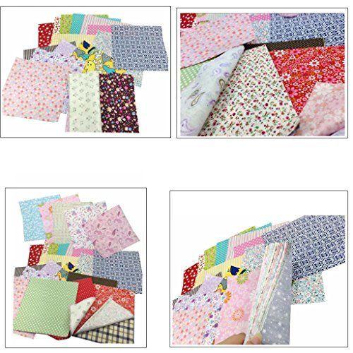 18f20d73772996 25Pcs Baumwollstoff Patchwork Stoffe DIY Gewebe Quadrate Baumwolltuch  Stoffpaket zum Nähen mit vielfältiges Muster 30x30cm: