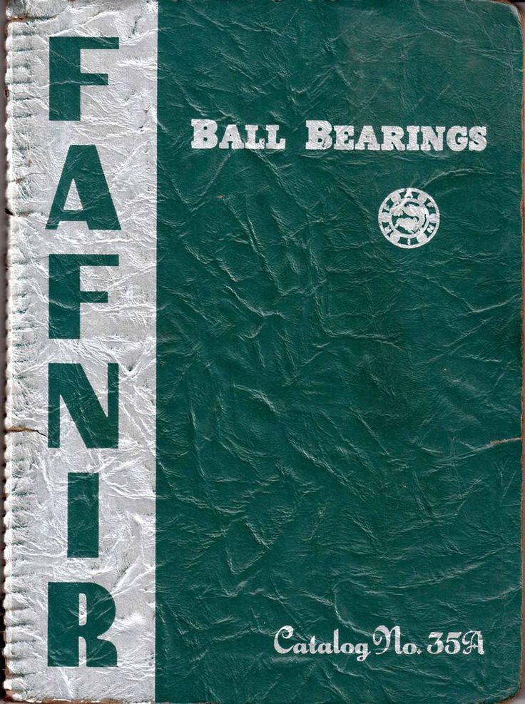 1943 Fafnir Bearing Company Ball Bearings Catalog Number 35A