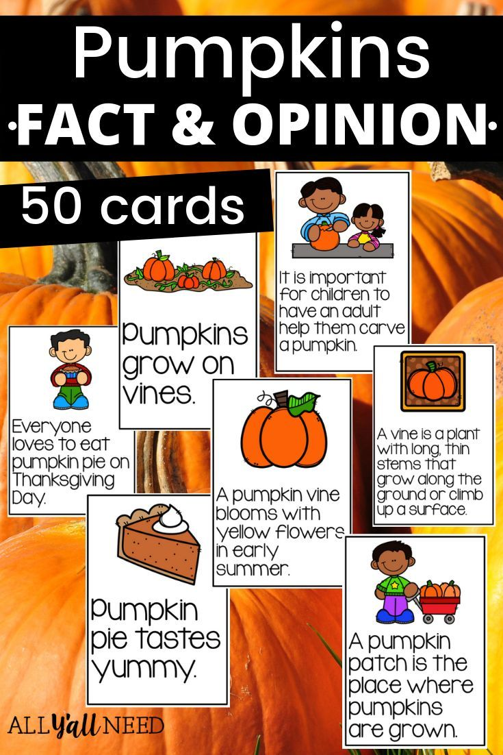 Pumpkins Fact And Opinion Pumpkin Facts Fact And Opinion Pumpkin Learning
