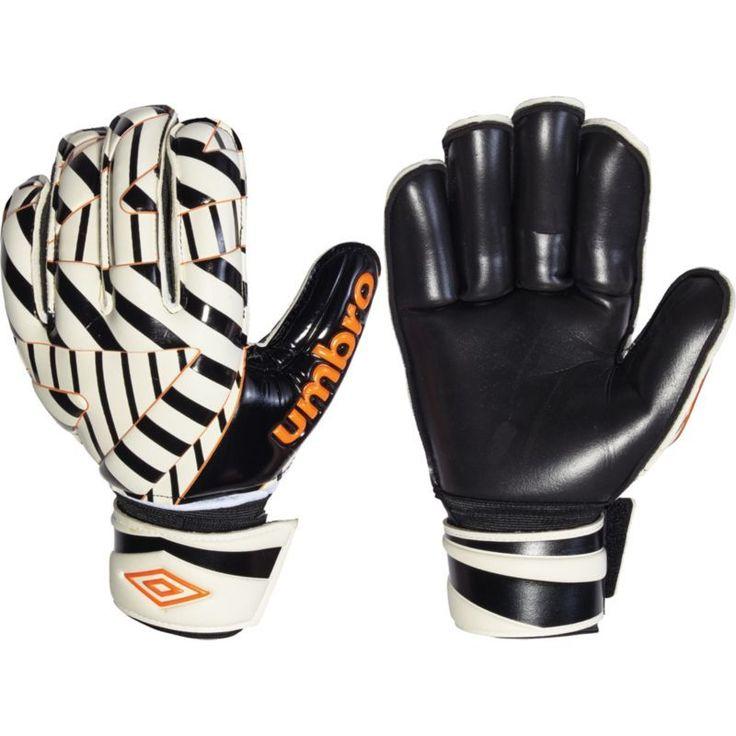 Umbro Adult GKX Pro Soccer Goalkeeper Gloves, Black/White/Orange