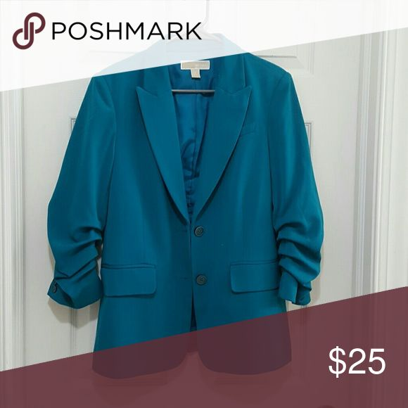 Michael Kors women's sport jacket Jacket in great condition Worn once for a conference, color is tealish blue Michael Kors Jackets & Coats Blazers