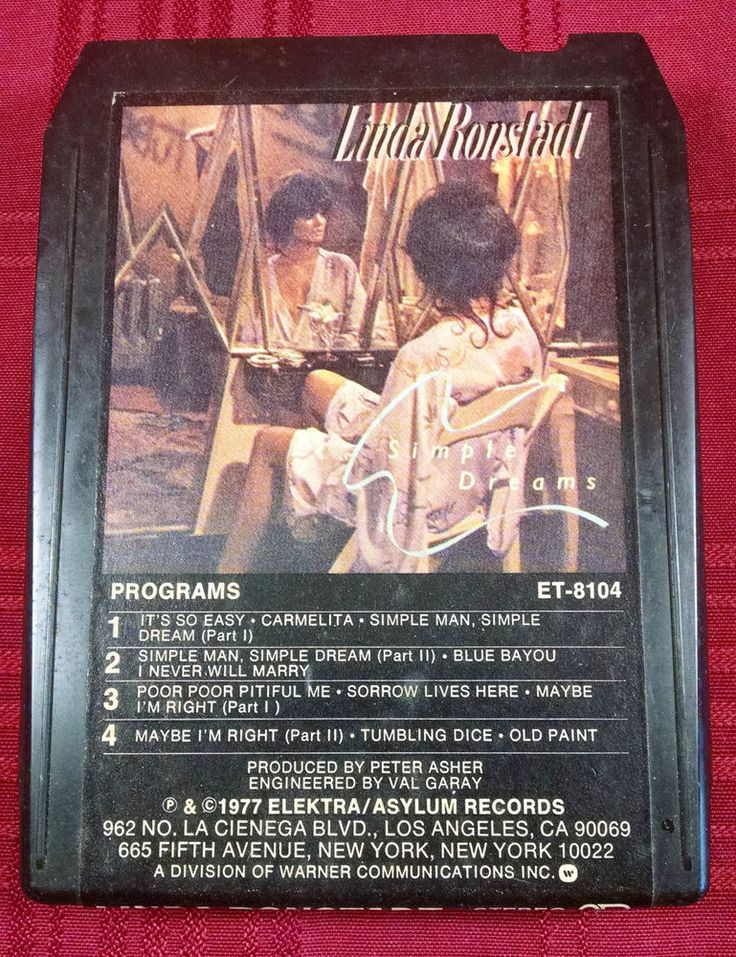 Linda Ronstadt 8-Track Tape Simple Dreams 1977 Elektra/Asylum Records Vintage #FolkCountryRock