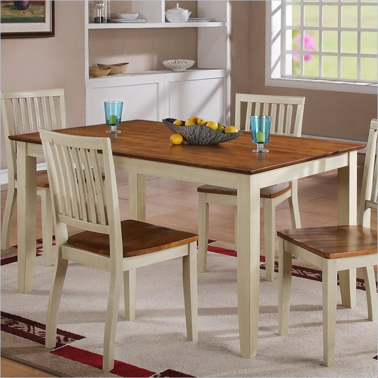Steve Silver Company Candice Rectangular Dining Table in Oak and White - CD450TW - Lowest price online on all Steve Silver Company Candice Rectangular Dining Table in Oak and White - CD450TW