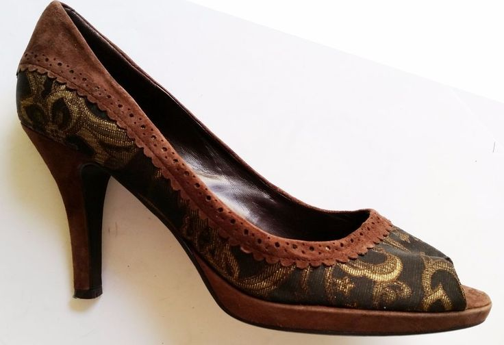 Bandolino Brown Peep Toe Pumps Women sz 10M #Bandolino #PumpsClassics