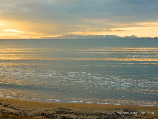 Capanna Civinini beach sunset