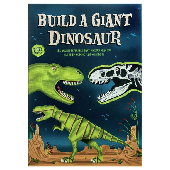 Build an amazing reversible giant dinosaur model that you can build inside out and outside in!  Once you build your dinosaur, the fun continues as the dinosaur is double sided and can be rebuilt inside out to reveal the dinosaur inner skeleton and bone structure.  Learn all about your T Rex, inside and out, with information about the dinosaur internal workings including the name of some of the different bones.  Contents: 33 x card pieces, 1 x activity sheet.  Age range 7-12 years