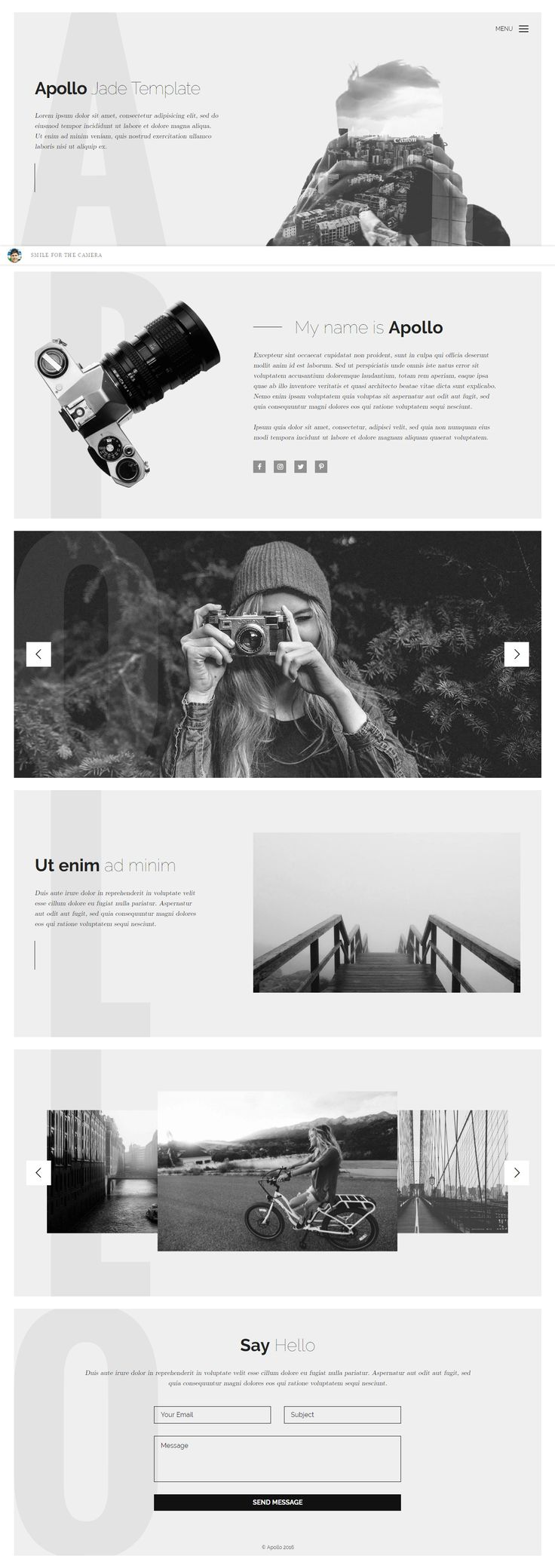 HTML template for photographers – Apollo. #download #free #html #template #apollo #freebiesteam #webresources #codestuff #css3