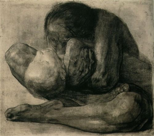 kathe kollwitz. i came across this piece in a book during art class in high school and was immediately brought to tears. her personal story is heart-wrenching.